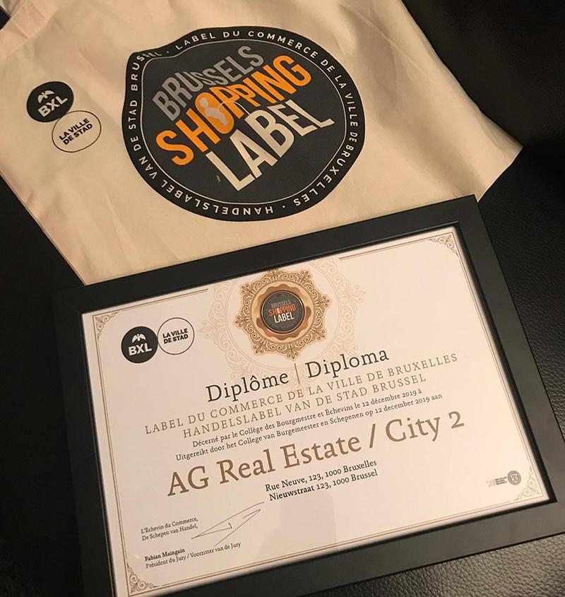 City2 a reçu le Label du Commerce de la Ville de Bruxelles