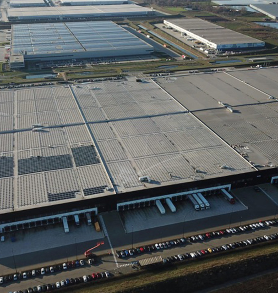 """The world's most powerful solar roof"" A joint venture between AG Real Estate and Heylen Warehouses"